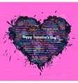 Black heart on Valentines Day vector image vector image