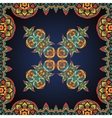 Bright coloured ornate frame with paisley pattern vector image vector image