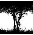 bush detail silhouette vector image vector image