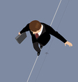 Business Man on a Wire vector image