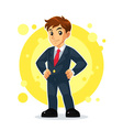 Businessman Mascot Character vector image vector image