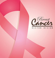 Cancer design over pink background vector image vector image