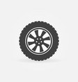 car wheel with tire icon or logo vector image vector image