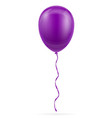 celebratory purple balloon pumped helium with vector image vector image