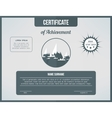 Certificate template for achievement Gray vector image vector image