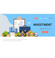 checklist survey investment property business vector image