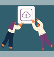 cloud technology icon network concept social vector image