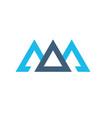 creative blue trinity futuristic triangle symbol vector image vector image