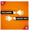 Creative poster for halloween party vector image vector image