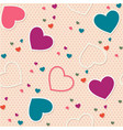 cute seamless pattern background valentine heart vector image vector image