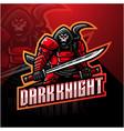 dark knight esport mascot logo design vector image