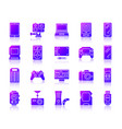 device simple ultraviolet gradient icon set vector image vector image