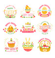 easter religious holiday isolated icons cake and vector image vector image