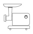 Electric meat mincer black color path icon