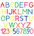 english alphabet and numbers vector image