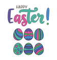 eps10 lettering happy easter vector image