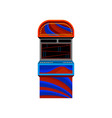 flat icon of red-blue arcade video game vector image vector image