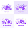 flat line purple designed concepts 15 vector image