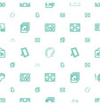 gallery icons pattern seamless white background vector image vector image