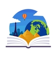 Geography Emblem vector image vector image