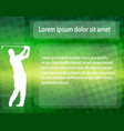golfer silhouette over abstract background with vector image vector image
