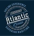 graphic leadership atlantic ocean vector image vector image