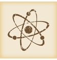 Grungy atom icon vector image