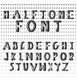 Halftone dots alphabet letters vector image