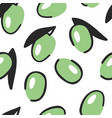 hand drawn seamless pattern with vegetable vector image vector image