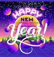 happy new year lettering congratulation card vector image vector image