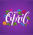 hello april banner design template with images vector image