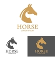 horse logo Design element vector image