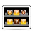 icecream orange app icons vector image vector image