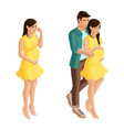 isometry a pregnant girl with a beloved man vector image vector image