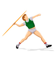 javelin player vector image vector image