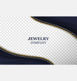 jewelry store realistic banner template vector image