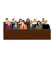 jury in court trial vector image vector image