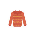 knitted sweater - cute winter vector image vector image