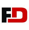 letter fd modern logo vector image