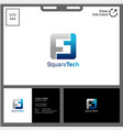 logo letter s for square modern and technology vector image
