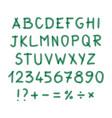 marker hand written doodle symbols letters vector image vector image