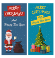 Merry Christmas and Happy New Year banners Cartoon vector image vector image