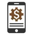 Mobile Bank Options Flat Icon vector image