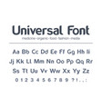 modern typeface universal font food vector image vector image