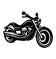 monochrome retro bike cruiser chopper for design vector image
