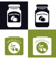olives in jar and in can vector image vector image
