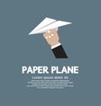 Paper plane In Hand vector image vector image