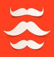 paper santas moustache vector image vector image