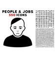 patient icon with bonus vector image vector image