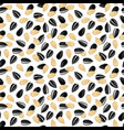 pattern with sunflower seeds vector image vector image